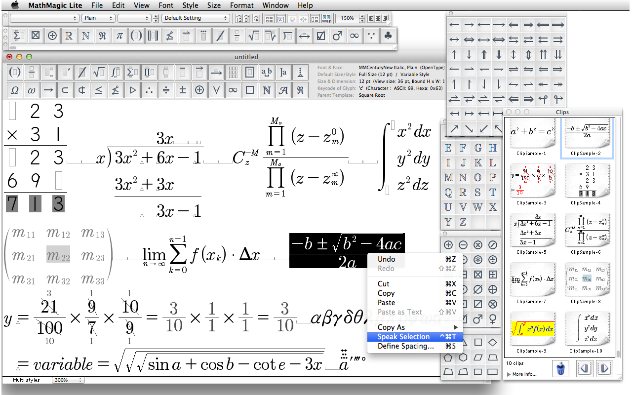 MathMagic Lite - The Best Free Equation Editor on the planet!