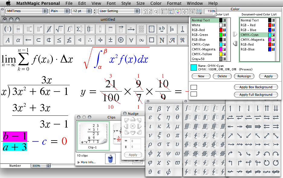 MathMagic Personal - Multi-purpose Equation Editor