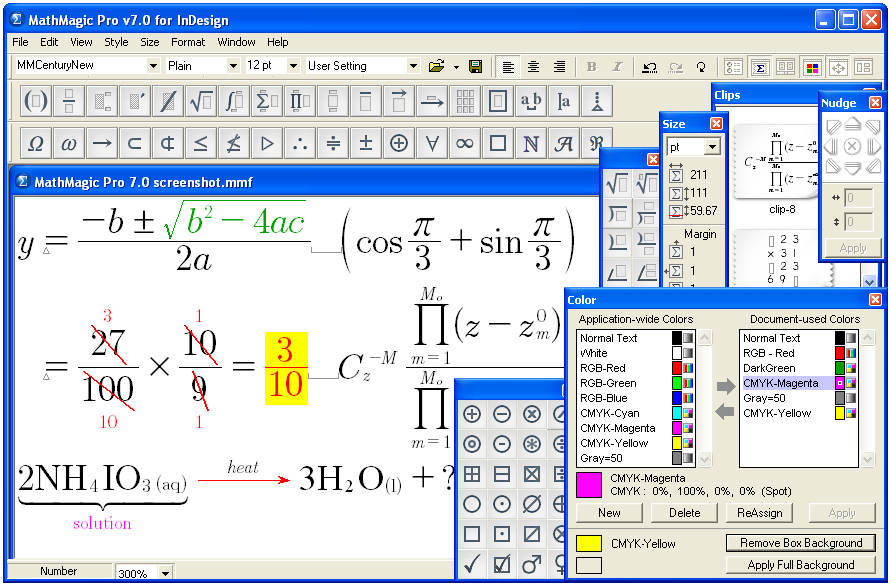 MathMagic Pro Edition full screenshot